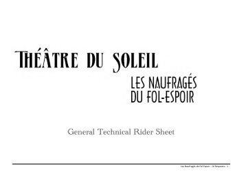 General Technical Rider Sheet - Le Théâtre du Soleil