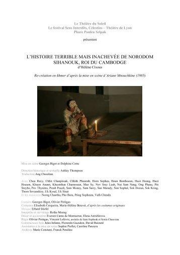 l'histoire terrible mais inachevée de norodom sihanouk, roi du ...