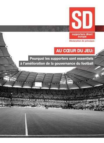 AU CŒUR DU JEU: - Supporters Direct
