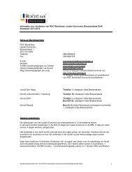 Studenteninformatie cluster Economie Bras 2011-2012 DEFINITIEF