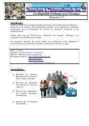 Les dispositifs d'échange avec l'étranger Séquence n°7 - Espace ...