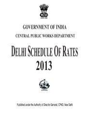 Delhi Schedule Rate - Cpwd.gov.in