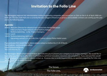 Invitation to the Follo Line - Jernbaneverket