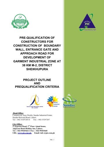 PRE-QUALIFICATION OF CONSTRUCTORS FOR ... - Punjab