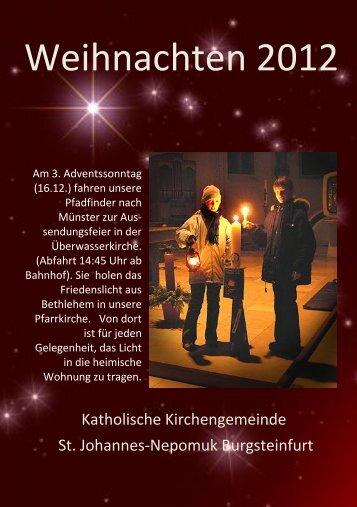 Pfarrbrief Weihnachten 1994 - Start - Katholisch in Steinfurt