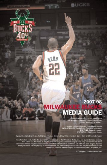 milwaukee bucks media guide - NBA.com