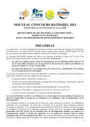 Reglement BATISSIEL 2011 - Espace pédagogique