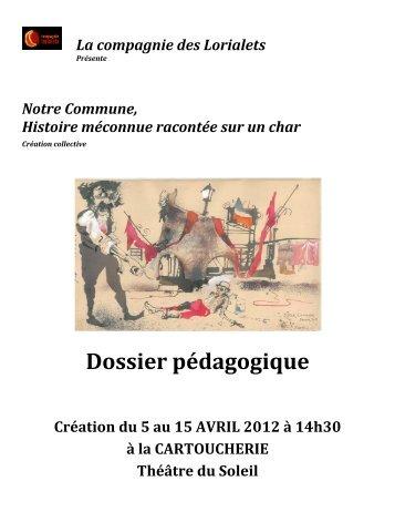 Dossier Pédagogique Notre Commune Les Lorialets - Le Théâtre du ...