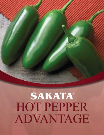 HOT PEPPER HYBRIDS - Sakata Vegetables