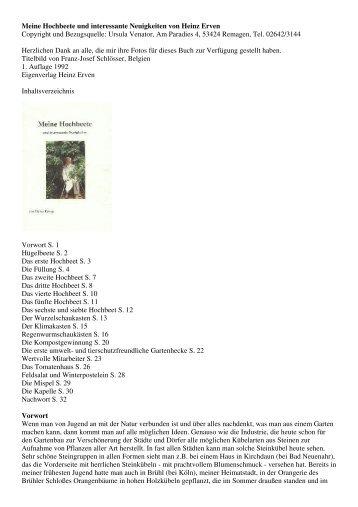 Meine Hochbeete und interessante Neuigkeiten von Heinz Erven