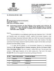 Bhagwati Dyes & Chemical Industries, Plot No.40 ... - SEIAA, Gujarat