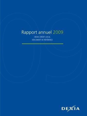Rapport annuel 2009 - Dexia Crédit Local