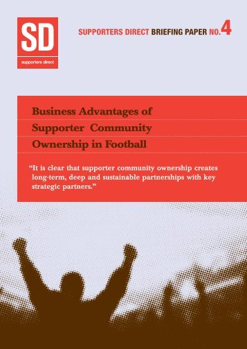 Business Advantages of Supporter Community ... - Supporters Direct