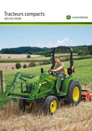 Tracteurs compacts serie 20 - John Deere
