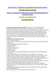 ABS 497 Week 3 DQ  Assignment communication PowerPoint Presentation/Uoptutorial