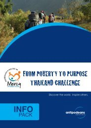 from poverty to purpose thailand challenge - Mercy International