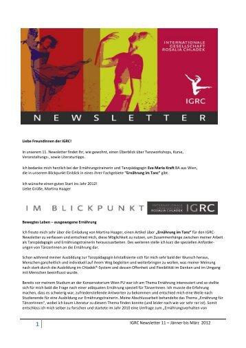 IGRC Newsletter 11 – Jänner bis März 2012 - Internationale ...