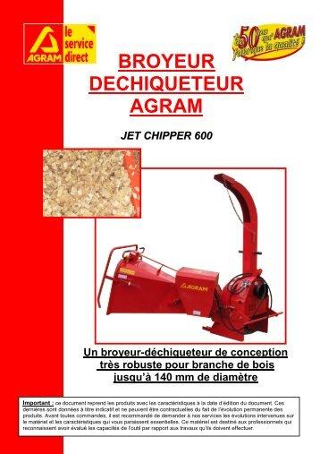 broyeur dechiqueteur agram jet chipper 600
