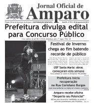 Jornal Oficial - 05 de agosto de 2011 - Prefeitura Municipal de Amparo