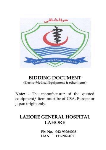 BIDDING DOCUMENT - ppra services portal - Punjab