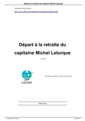 Départ à la retraite du capitaine Michel Leturque - Avion