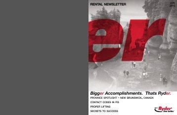 Bigger Accomplishments. Thats Ryder.