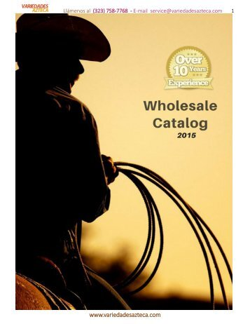 www.variedadesazteca.com Wholesale Product Catalog 2015