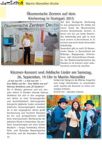 Gemeindebriefseiten MNK August-September 2015