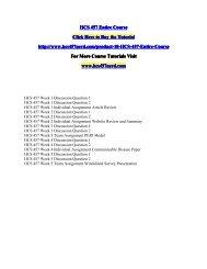 HCS 457 Entire Course/HCS457nerddotcom
