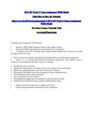 HCS 457 Week 3 Team Assignment PERI Model/HCS457nerddotcom