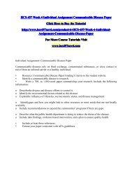 HCS 457 Week 4 Individual Assignment Communicable Disease Paper/HCS457nerddotcom