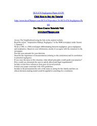 HCS 478 Negligence Paper (UOP)/HCS478paperdotcom