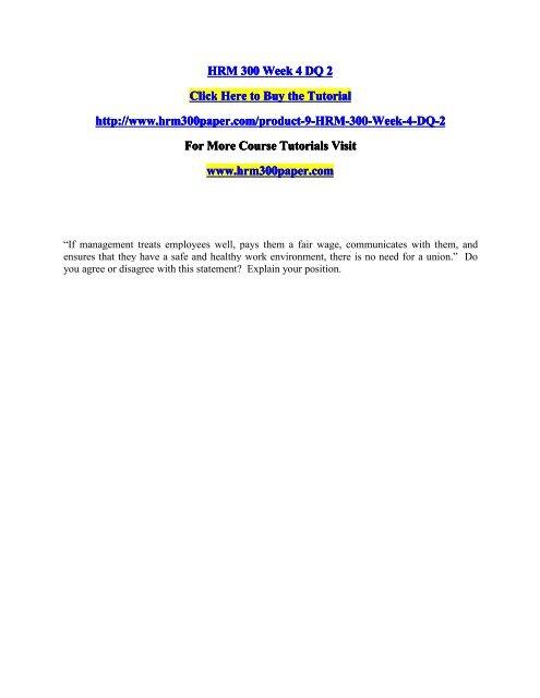 HRM 300 Week 4 DQ 2/HRM300paperdotcom