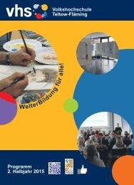 Volkshochschule Teltow-Fläming - Programmheft 2-2015