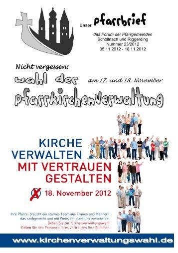 Pfarrbrief 23.pdf - Pfarrverband Schöllnach-Riggerding-Außernzell