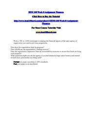 HSM 240 Week 8 Assignment Finances/HSM240nerddotcom