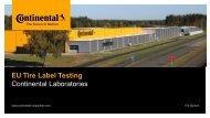 EU Tire Label Testing Continental Laboratories