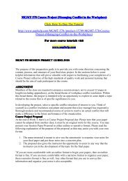 MGMT 570 Course Project