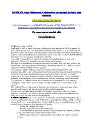 MGMT 570 Week 5 Homework Collabarative case analysis