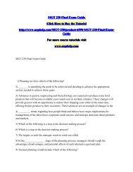 MGT 230 Final Exam Guide