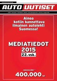 Pääkaupunkiseudun Autouutiset  - MEDIATIEDOT 2015