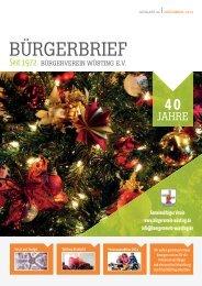 BÜRGERBRIEF Ausgabe 86 - November 2014 - Vereinsheft vom Bürgerverein Wüsting e.V.