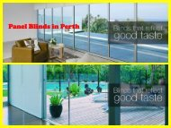 Panel Blinds in Perth