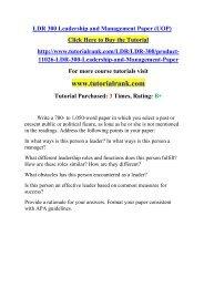 LDR 300 Leadership and Management Paper (UOP)/TutorialRank