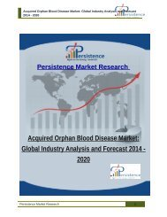 Acquired Orphan Blood Disease Market: Global Industry Analysis and Forecast 2014 - 2020