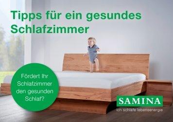 SAMINA Schlaftipps - Tipps für ein gesundes Schlafzimmer