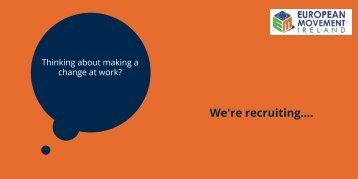 We're recruiting....