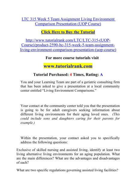 living environment short answer questions