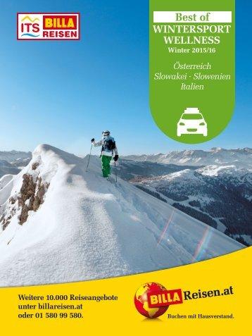 ITS BILLA REISEN - Best of Wintersport & Wellness 2015/16