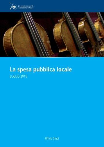 La spesa pubblica locale